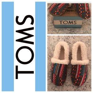 TOMS Slipper Stripe Knit Girls Size 13